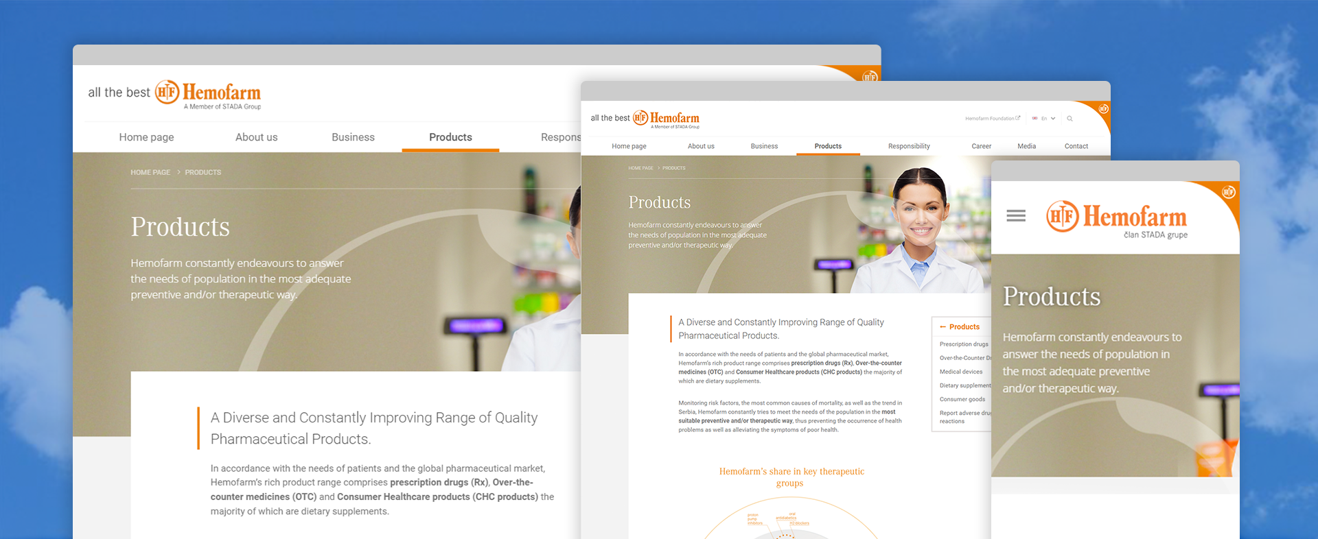 Hemofarm portal preview