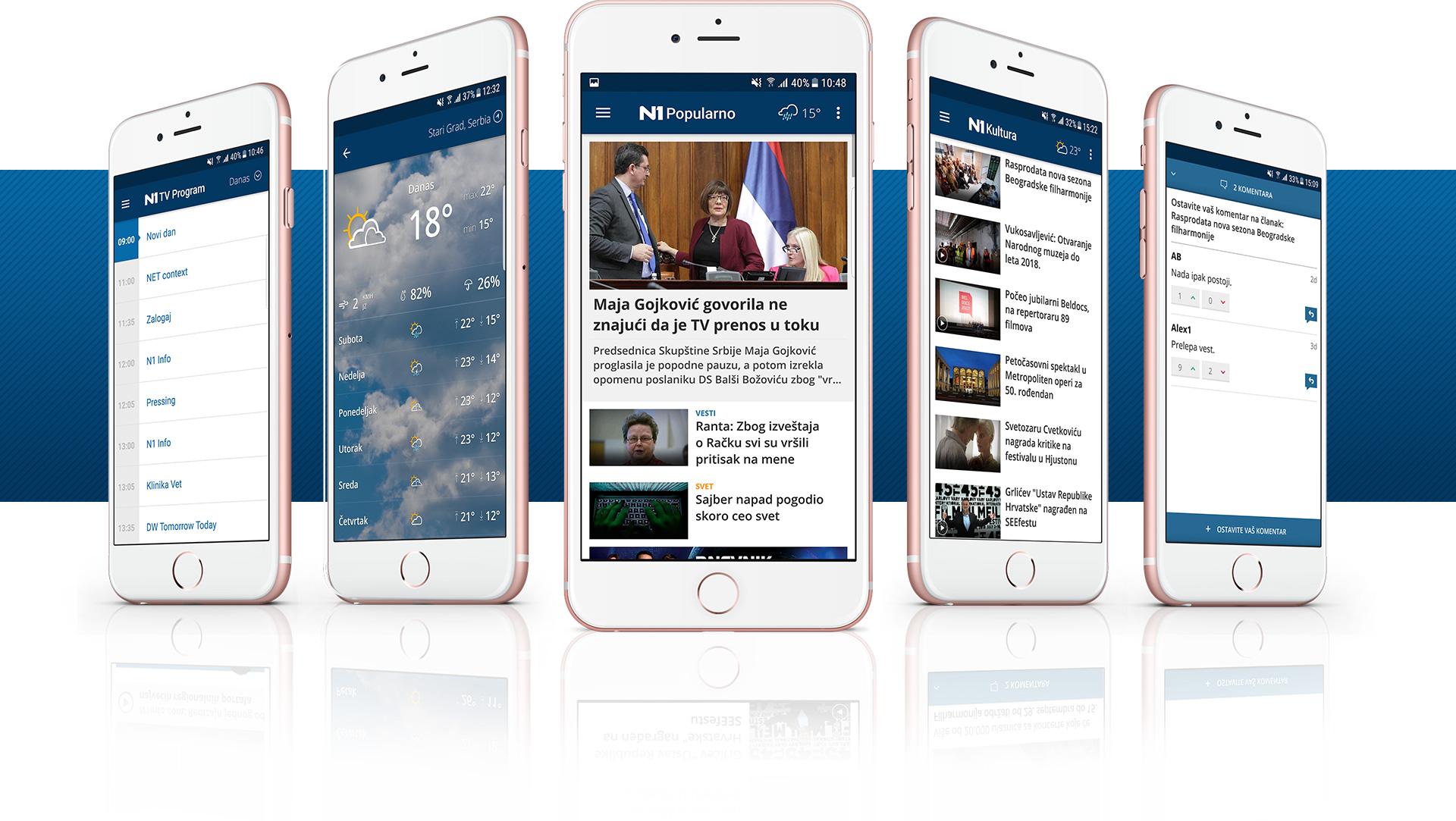 N1 mobile app preview