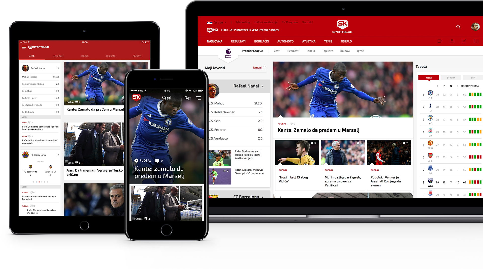 Sportklub on all devices